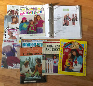 For Sale: Binder Full of Hand Knitting Patterns +Other H K book