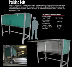 KWIK-STOR PARKING LOFT. GARAGE STORAGE UNITS. CONDO STORAGE