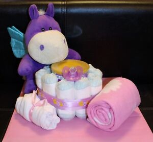HIPPO BABY DIAPER CAKE Kitchener / Waterloo Kitchener Area image 1