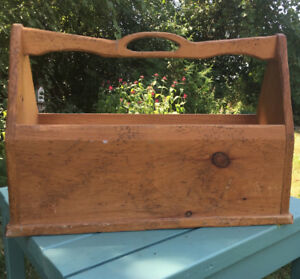 Rustic wooden magazine rack