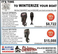 ITS THAT TIME OF YEAR TO WINTERIZE YOUR BOAT