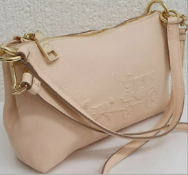 🆕️ COACH *CHARLEY*SMALL PALE PINK LEATHER CROSSBODY BAG