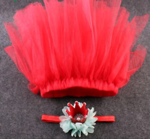Red skirt/tutu with crown size newborn - 12 months