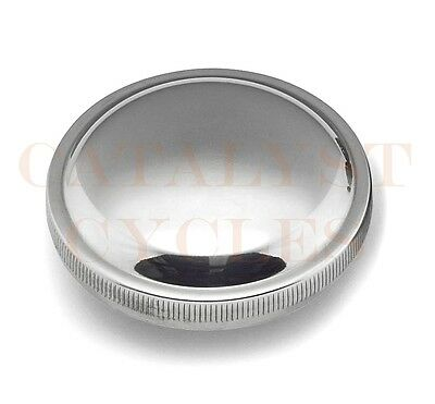 Vented Gas - Chrome Vented Gas Cap for Harley Gas Tank & Peanut Tank Bobber Style Cap 73-82