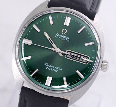 VINTAGE OMEGA SEAMASTER COSMIC AUTO CAL752 DAY&DATE GREEN DIAL MEN