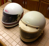 Two Bell Helmets Full Face Best Quality Used Older from the 1980