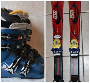 ELAN 113cm SKI, Salomon Performa 6.0 Youth Ski Boots size 22 / 4