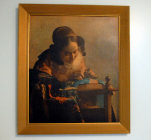 "Johannes Vermeer ""the lacemaker"" Wall Art"