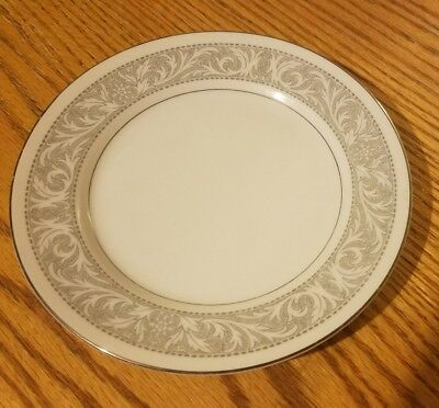 Imperial China WHITNEY 5671 Plate 6.5 in W Dalton Gray Band Leaves Scrolls