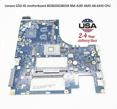 100% NEW Original For Lenovo G50-45 motherboard NM-A281 5B20G38059 AMD A8-6410