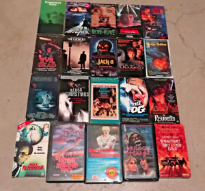 20 Rare Horror Cult VHS lot of 9 Jack-O Dead-Alive The Fog +++