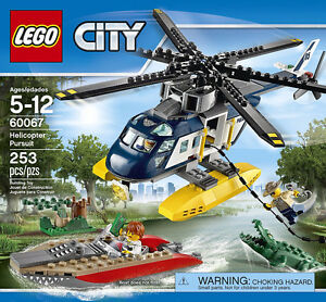 lego 60067  helicppter pursuit  253pcs (new)