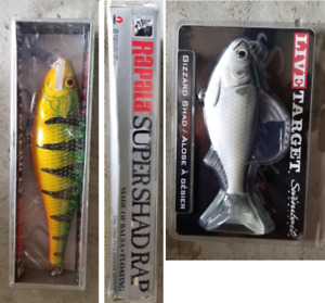 LIVE TARGET SWIMBAIT & RAPALA SUPER SHAD -NEW IN BOXES