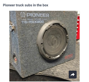 Pioneer truck subs in box