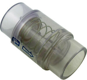 Spa Hot Tub Air Blower Clear Check Valve 1/4 LB. Spring fits 1.5-2