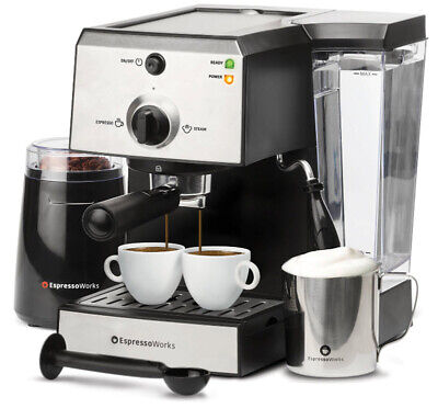 Coffee Grinders Espresso Makers (Cappuccino Maker Bean Grinder Coffee Espresso Machine Steamer Frother Cups )