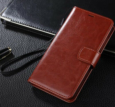 Genuine Luxury Real Leather Flip Wallet Case Cover Samsung Galaxy S4 S5 Note 3
