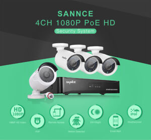 BRAND NEW Sannce 4CH Camera Security System Home Business IP