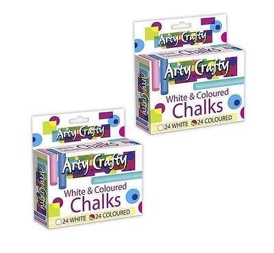 Kunst-schubladen (96 Weiß & Farbig Kreide 24 Jeder Kinder Handwerk Kunst Schubladen Spielen)