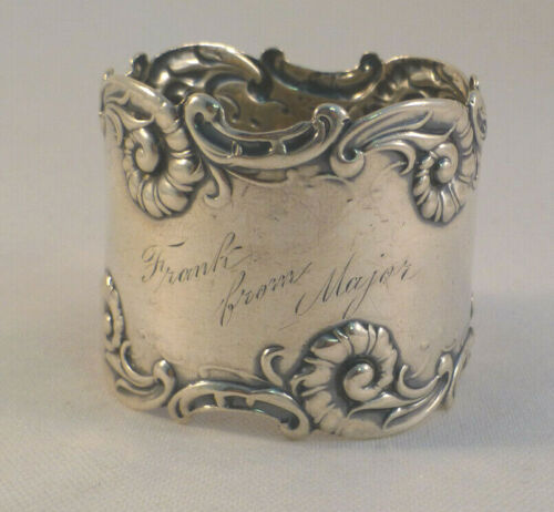 """Fancy Whiting Sterling Napkin Ring-1 5/8"""" Wide"""