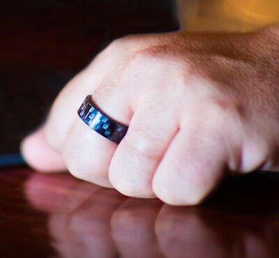 100% Carbon Fiber Black Ring Luxury Unisex 8mm all sizes men women best gift (100 Best Gifts For Men)