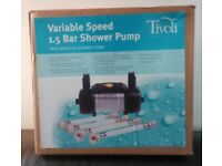 1.5 Bar Variable Speed Shower Pump, New in Sealed Box