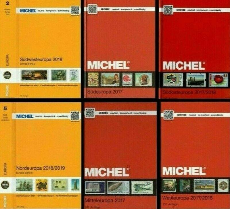 MICHEL 2017-2018 - Europa - set of 6 stamps catalogs & Errata Digital Book