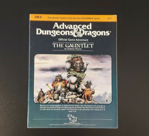 AD&D Module UK3 - The Gauntlet - Dungeons and Dragons - TSR 9111 - Very Good