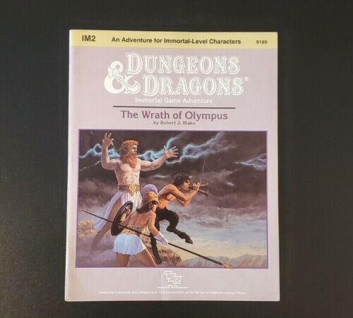 D&D Module IM2 - The Wrath of Olympus - Dungeons and Dragons - TSR 9189 - VG