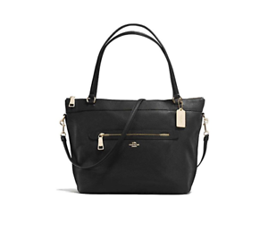 Coach Tyler Pebble Leather Tote Black F54687 Ebay