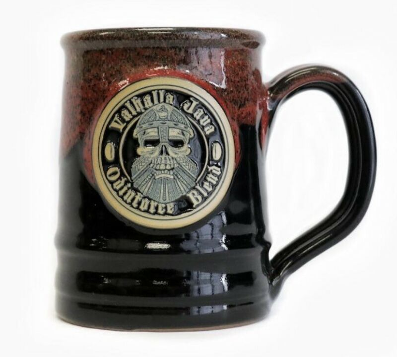 Death Wish Coffee 2018 Valhalla Java Logo Mug  Deneen Pottery