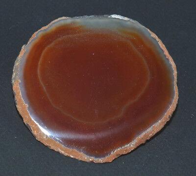 "Agate Slice Slab Geode Orange Dyed Art Stained Glass 3..5"" x 3.22"" SB192"