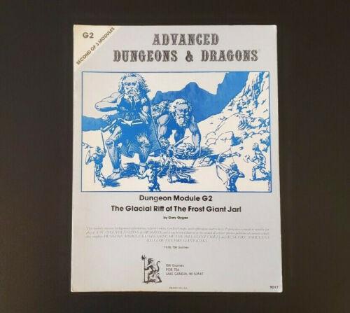 AD&D Lizard Logo First Print - Mono Module G2 - Dungeons & Dragons - TSR 9017 VG