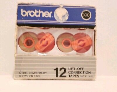 Brother Model 3010 Nib 12 Lift-off Corrections Tapes 012502020837 Item 62957