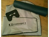 Concept 2 rower dust cover, seat pad and protective mat