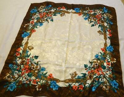 Vintage Scarf Styles -1920s to 1960s Vintage Designer Scarf Silk 30