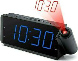 ✨ DreamSky Projection Alarm Clock Radio with USB Charging Port and FM Radio