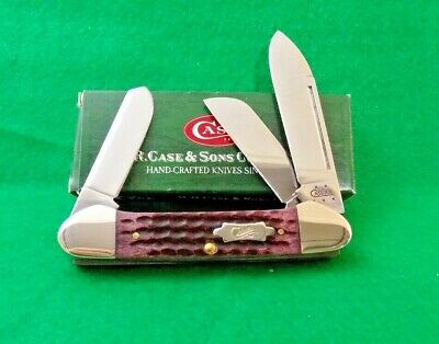 2005 CASE XX USA CABERNET JIGGED BONE GUNBOAT CANOE KNIFE;NR