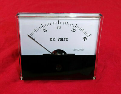 Jewell Electrical Instruments Model Ms2t Analog Panel Meter 0-40 Dc Volts