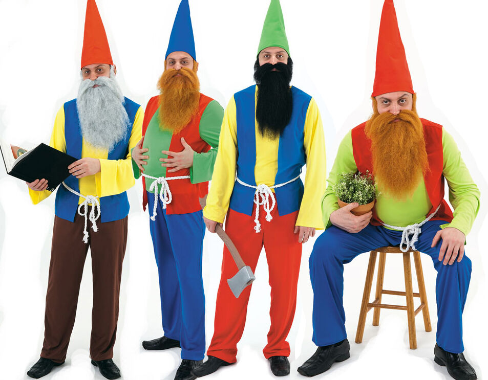 Mens Adult Fairytale Panto Garden Gnome Dwarf Stag Fancy Dress Costume Outfit