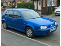 Volkswagen Golf 1.4 Petrol 12 Month Mot & Vauxhall Frontera 2.2 Diesel 11 Month Mot
