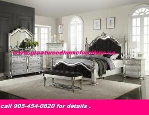 Solid wood 6 piece bedroom set for $2499