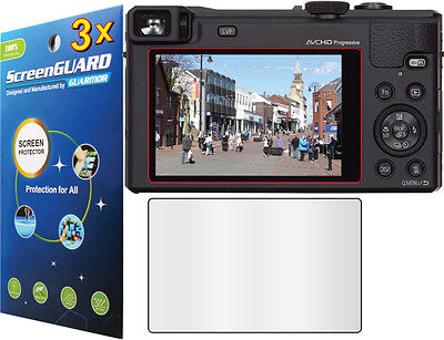 3x Clear LCD Screen Protector Film Panasonic Lumix DMC-ZS40 DMC-ZS50 DMC-ZS60