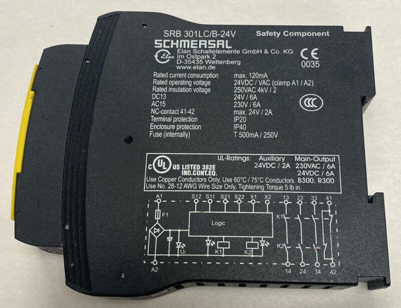 Schmersal SRB 301LC/B-24V Safety Relay New no Box