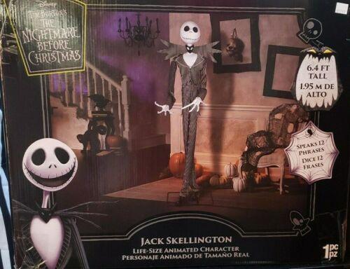 Gemmy Nightmare Before Christmas Animated Jack Skeleton