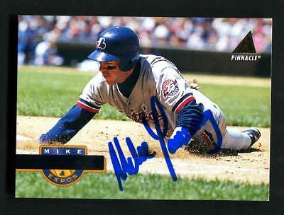 Mike Lansing Autograph Signed 1994 Pinnacle Expos