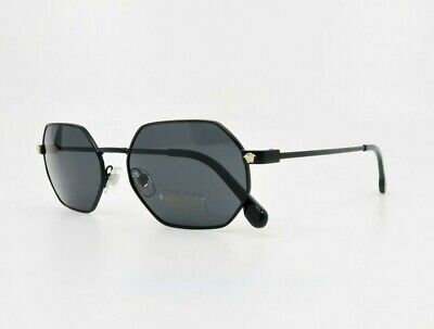 VERSACE Men's Matte Black & Gold Sunglasses w/ Box MOD 2194 1261/87 53mm