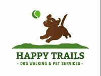 Happy Trails dog walking and pet services