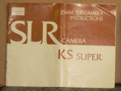 Sears KS Super 35mm SLR Camera Instructions