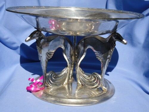 """11"""" SILVER BORZOI WEIDLICH BROTHERS 2930 DISH DOG"""